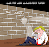 Cartoon: And the wall was already there. (small) by Cartoonarcadio tagged wall,trump,us,government,immigrants,politicians,president