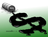 Cartoon: Crisis of cheap crude.. (small) by Cartoonarcadio tagged crude,oil,crisis,prices