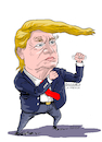 Cartoon: Donald Trump US President. (small) by Cartoonarcadio tagged trump kim us president