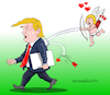 Cartoon: Happy Valentines day Trump. (small) by Cartoonarcadio tagged valentines day trump us president love