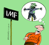 Cartoon: IMF scares Latin America (small) by Cartoonarcadio tagged imf economy latin america finances leftist movements