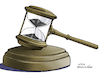 Cartoon: Justice and time. (small) by Cartoonarcadio tagged justice,crime,courts,people