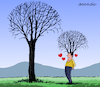 Cartoon: Love for the nature. (small) by Cartoonarcadio tagged nature,environment,planet,earth