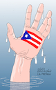 Cartoon: SOS Puerto Rico. (small) by Cartoonarcadio tagged puerto,rico,hurricane,maria,craibbean,america