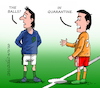Cartoon: Sports in quarantine. (small) by Cartoonarcadio tagged quarantine,sports,covid,19,coronavirus