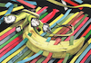 Cartoon: Surrealist Banana. (small) by Cartoonarcadio tagged banana surrealism art watercolor