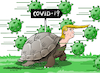 Cartoon: The emergency of Covid-19 in USA (small) by Cartoonarcadio tagged coronavirus,covid,19,usa,trump