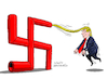 Cartoon: The extremist Trump. (small) by Cartoonarcadio tagged trump,us,government,washington