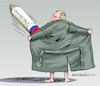 Cartoon: The invincible Putin. (small) by Cartoonarcadio tagged weapons,wars,russia,asia,europe,putin,military,arms,race