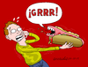 Cartoon: The scary food-processed meat. (small) by Cartoonarcadio tagged food,scary,processed,foods,meat,who