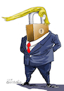 Cartoon: The shutdown man.. (small) by Cartoonarcadio tagged trump,shutdown,government,usa,congress