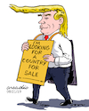 Cartoon: Trump in shopping days. (small) by Cartoonarcadio tagged something,surreal