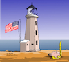 Cartoon: US lighthouse. (small) by Cartoonarcadio tagged trump,cpovid,19,coronavirus,usa