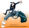 Cartoon: Violence without control. (small) by Cartoonarcadio tagged violence,cartoon,guns,crime,police,crisis,people