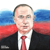 Cartoon: Vladimir Putin portrait. (small) by Cartoonarcadio tagged putin russia europe moscow kremlin politician