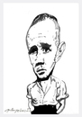 Cartoon: Jean Genet (small) by oktaybingöl tagged jean,genet,oktay,bingol