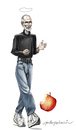 Cartoon: steve jobs (small) by oktaybingöl tagged steve,jobs,apple,oktay,bingol