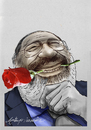 Cartoon: umberto eco (small) by oktaybingöl tagged umberto,eco,oktay,bingol