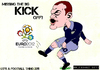 Cartoon: Wayne Rooney - Kick! (small) by bluechez tagged rooney england euro2012 poland ukraine football soccer