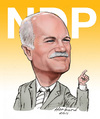 Cartoon: Jack Layton caricature (small) by Harbord tagged jack layton ndp caricature
