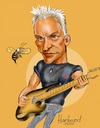 Cartoon: Sting caricature (small) by Harbord tagged sting,bass,plaer,famous,police,singer