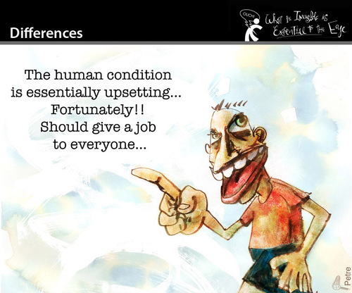 Cartoon: Differences (medium) by PETRE tagged mankind,work