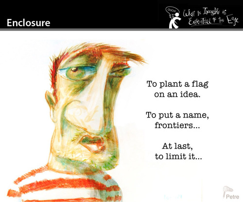 Cartoon: Enclosure (medium) by PETRE tagged ideas,thoughts,frontiers,flags