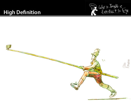 Cartoon: High Definition (medium) by PETRE tagged athletism,olympia,jump