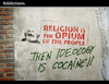 Cartoon: Addictions (small) by PETRE tagged marxism political graffitti stencil ideology drugs