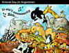 Cartoon: ANIMAL DAY in Argentine (small) by PETRE tagged nature,wild,lire