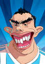 Cartoon: Carlos Tevez (small) by PETRE tagged football players caricature