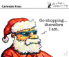 Cartoon: Cartesian Xmas (small) by PETRE tagged christmas santaclaus