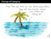 Cartoon: CHANGE OF CATEGORY (small) by PETRE tagged global,warming,desert,island