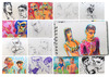 Cartoon: December sketches (small) by PETRE tagged people sketches colour drawings