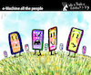 Cartoon: e-Machine All the People (small) by PETRE tagged iphone,smartphone,internet,socialnets,world,machine