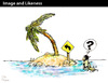 Cartoon: Image and Likeness (small) by PETRE tagged pictogram desert island