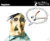 Cartoon: Imprison (small) by PETRE tagged language,speech,chain,prison