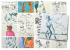 Cartoon: January sketches (small) by PETRE tagged people sketches colour drawings