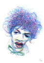 Cartoon: Jimmy Hendrix (small) by PETRE tagged caricature guitarist