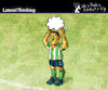Cartoon: Lateral Thinking (small) by PETRE tagged football,toughts