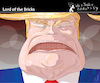 Cartoon: Lord of the Bricks (small) by PETRE tagged usa,trump,wall,border