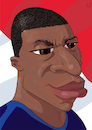 Cartoon: Mbape (small) by PETRE tagged caricature,fifa,worldcup,footbal,france