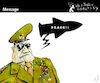 Cartoon: Message (small) by PETRE tagged peace,militar,army,war,speech