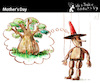 Cartoon: Mother Day (small) by PETRE tagged mother maternity puppet wood tree