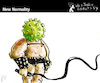 Cartoon: New Normality (small) by PETRE tagged world covid19 coronavirus plague sadomaso