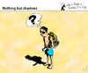 Cartoon: Nothing but shadows (small) by PETRE tagged beach summer