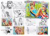 Cartoon: November sketches (small) by PETRE tagged people sketches colour drawings