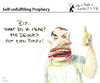 Cartoon: Self Unfulfilling Prophecy (small) by PETRE tagged drunk,wine,beverages