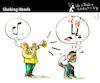 Cartoon: Shaking Heads (small) by PETRE tagged musician music bad horrible views