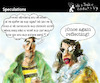 Cartoon: Speculations (small) by PETRE tagged speculations,reflections,mirror